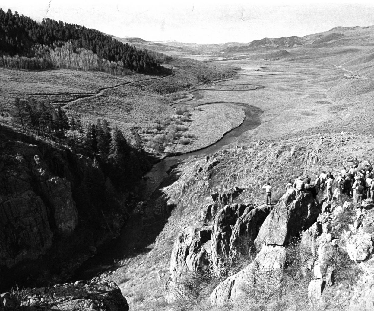 Stagecoach valley in October 1986 before construction of the dam.