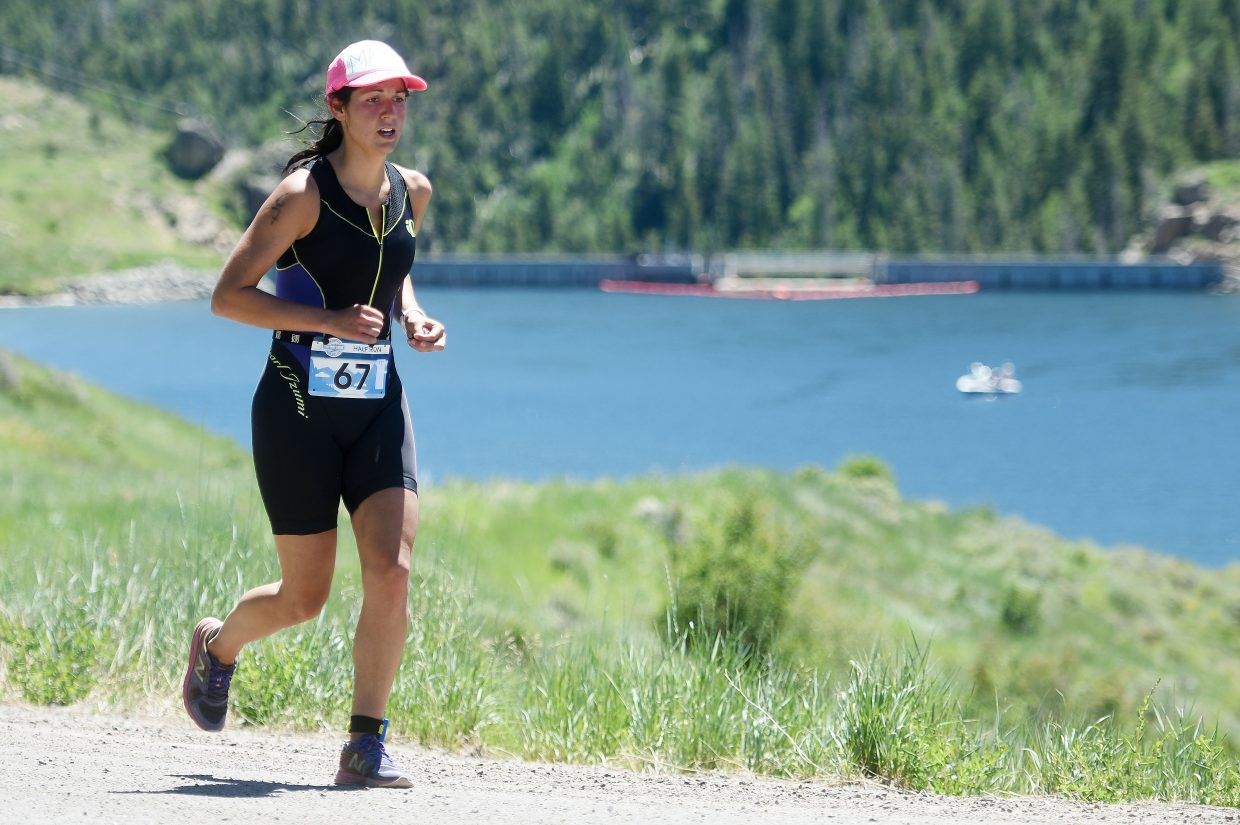 Triathletes competing in the Tri the Boat half-Ironman race on Sunday in Routt County swam 1.2 miles,  biked 56 and ran 13.1, all together covering more than 80 miles of terrain in and around Stagecoach State Park.
