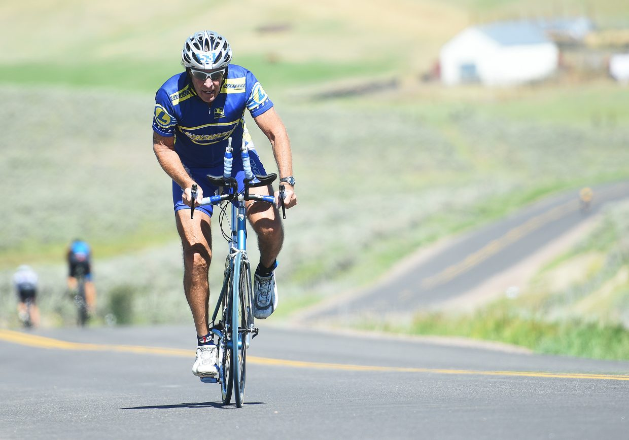 The cycling course took athletes deep into South Routt County on Sunday during the Tri the Boat half-Ironman triathlon.