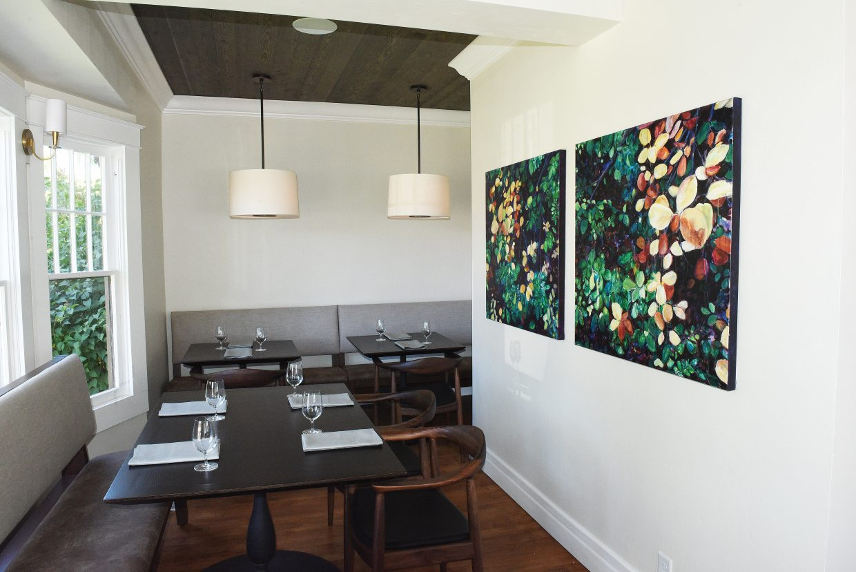 The artwork of local artist Missy Borden can be found in the dinning room at the new Cloverdale Restaurant, which opens Saturday in downtown Steamboat Springs.