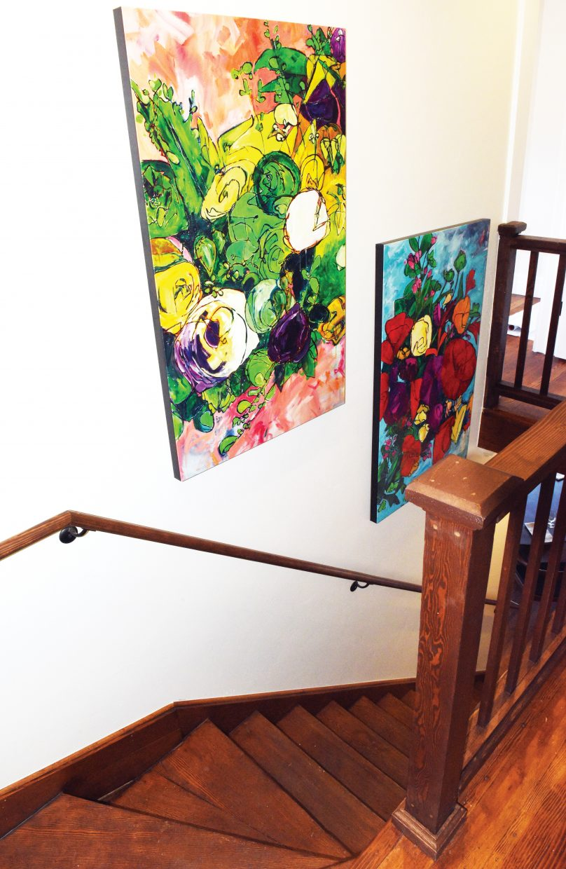 The work of local artist Missy Borden is featured inside the new Cloverdale Restaurant.