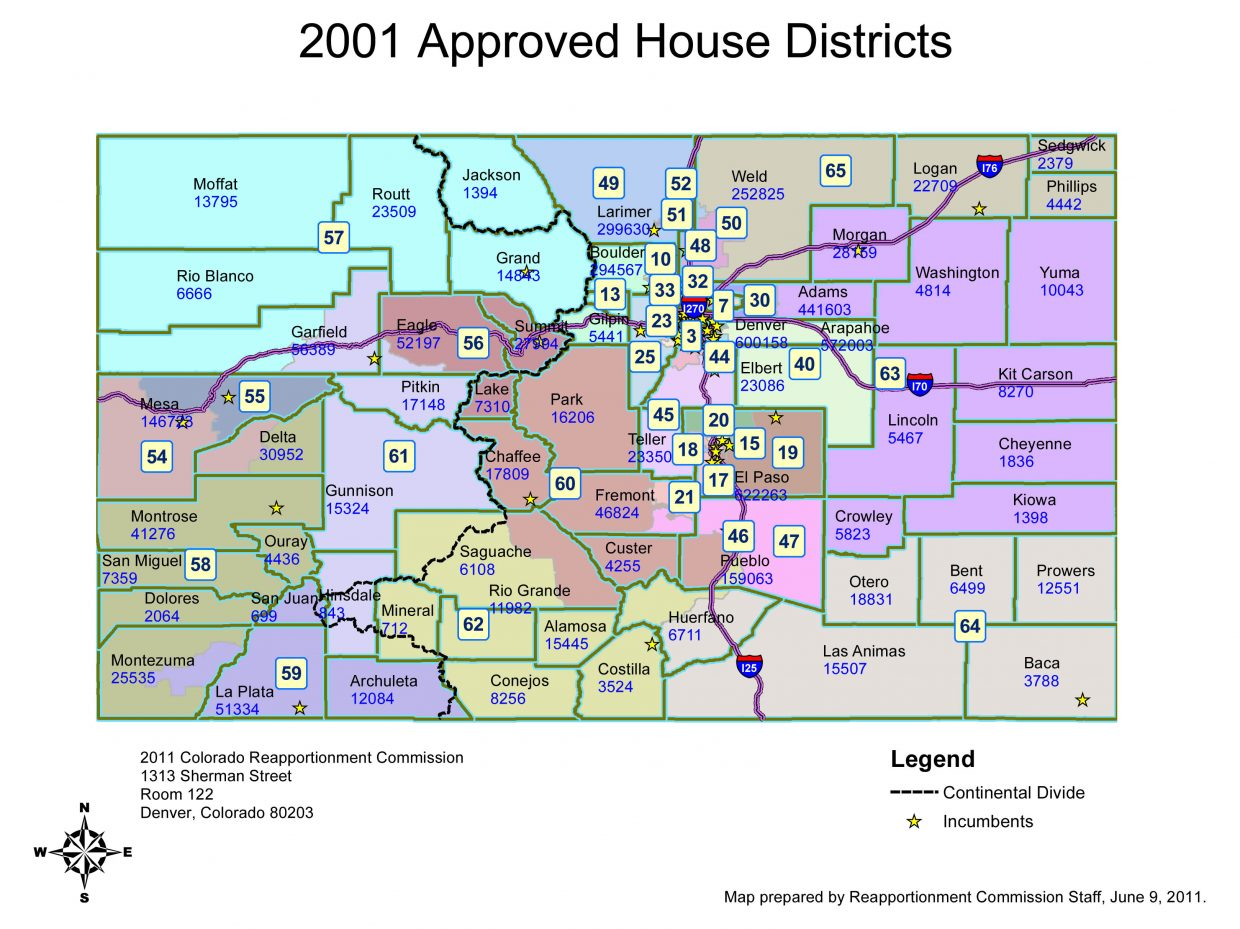 New district boundaries bring changes for routt county House map photo