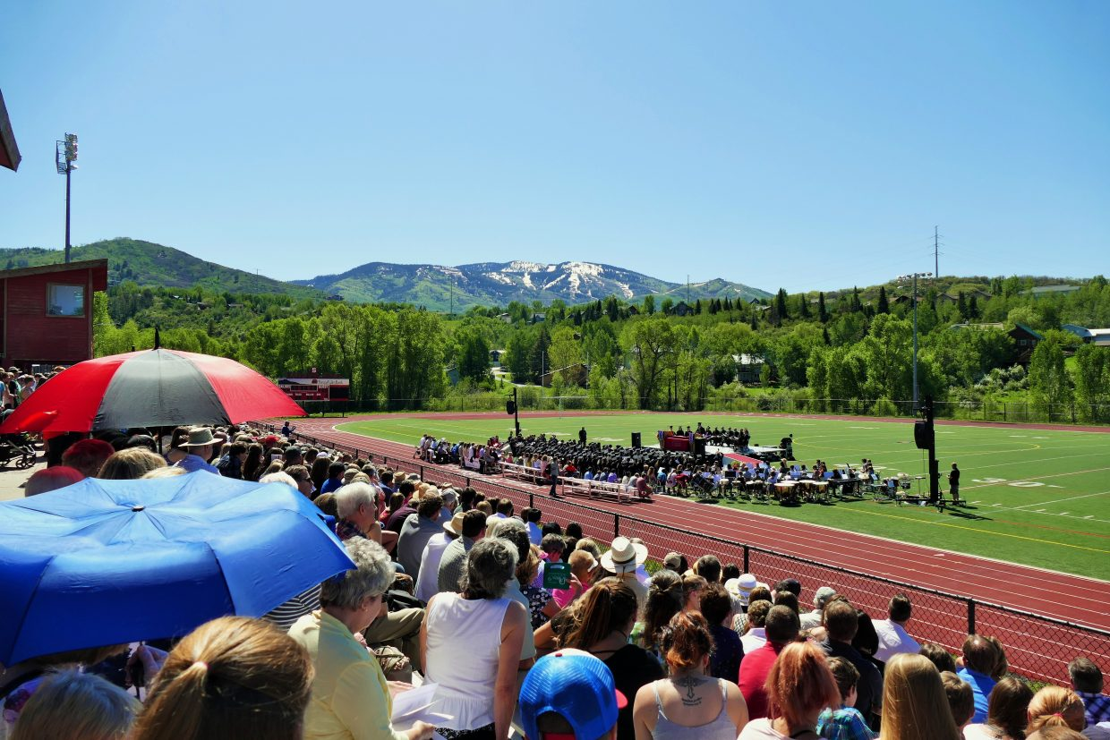 It was a beautiful day for graduation at Gardner Field, for the Steamboat Springs High School Class of 2017.