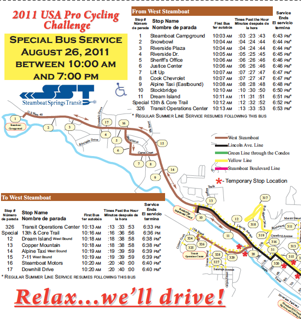 pro cycling challenge bus schedule steamboattoday com steamboat pilot