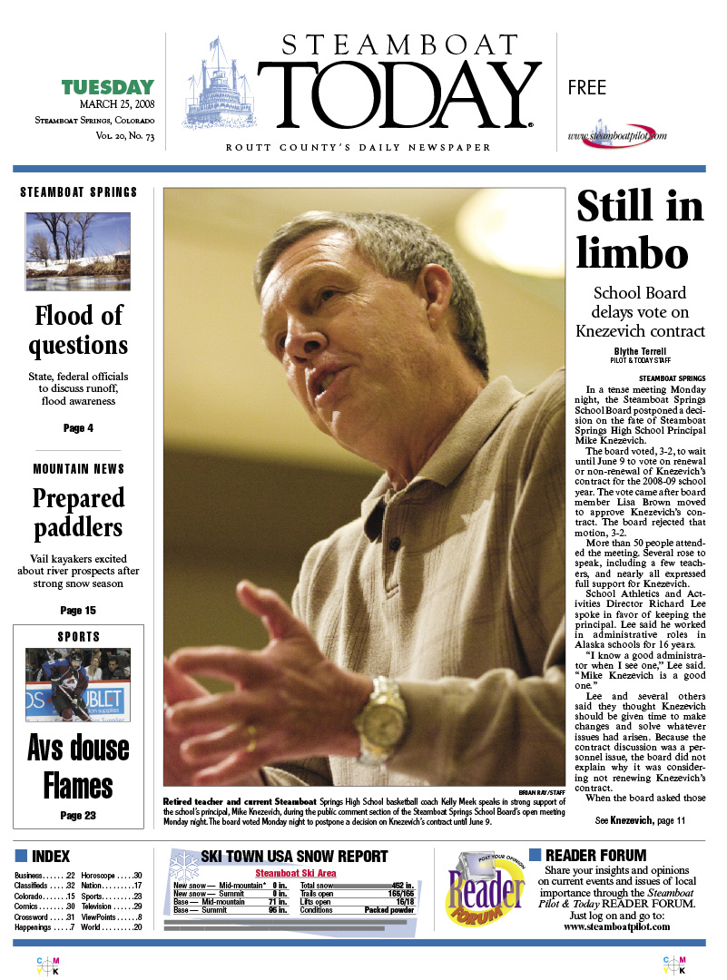 Steamboat front page for March 25, 2008 | SteamboatToday com
