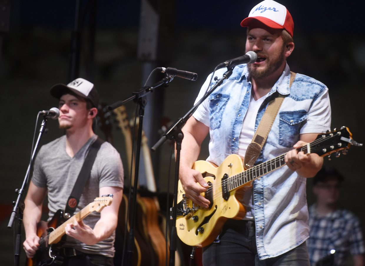 Logan Mize plays for the crowd Wednesday night during the Bulls and Bands event in Steamboat Springs.