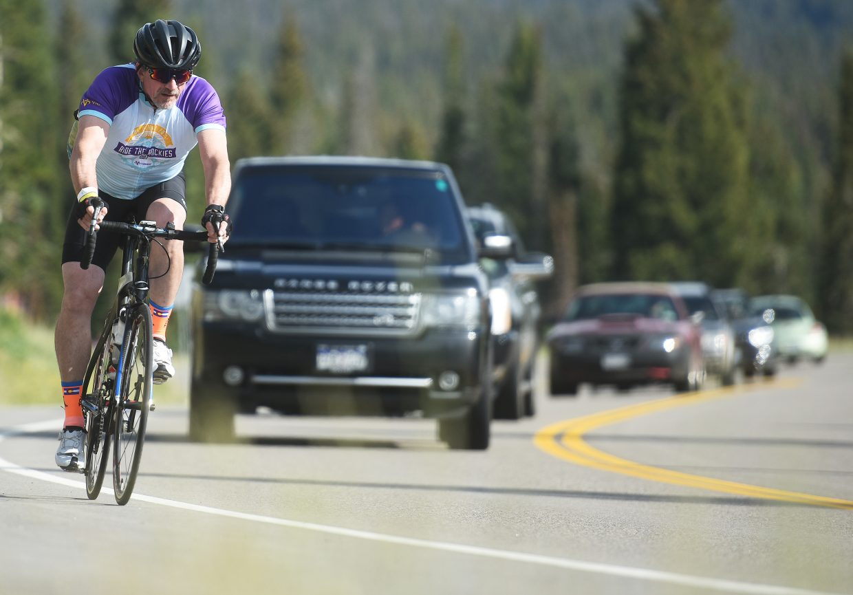 A rider makes his way along the course Saturday for the Tour de Steamboat.
