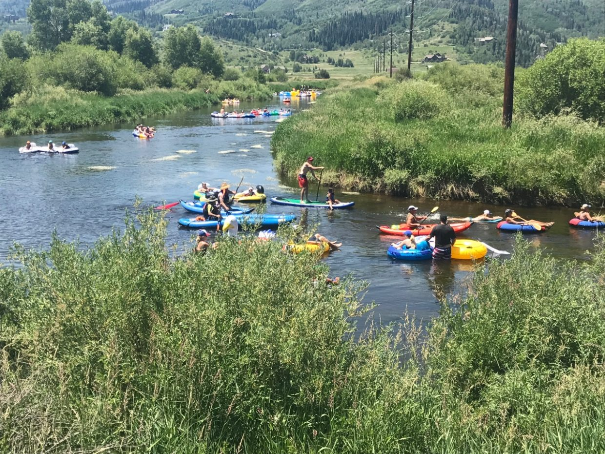 Fourth of July on the Yampa River.