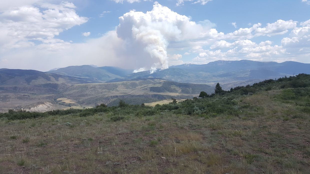 View of the Gutzler Fire from just north of Radium this afternoon.