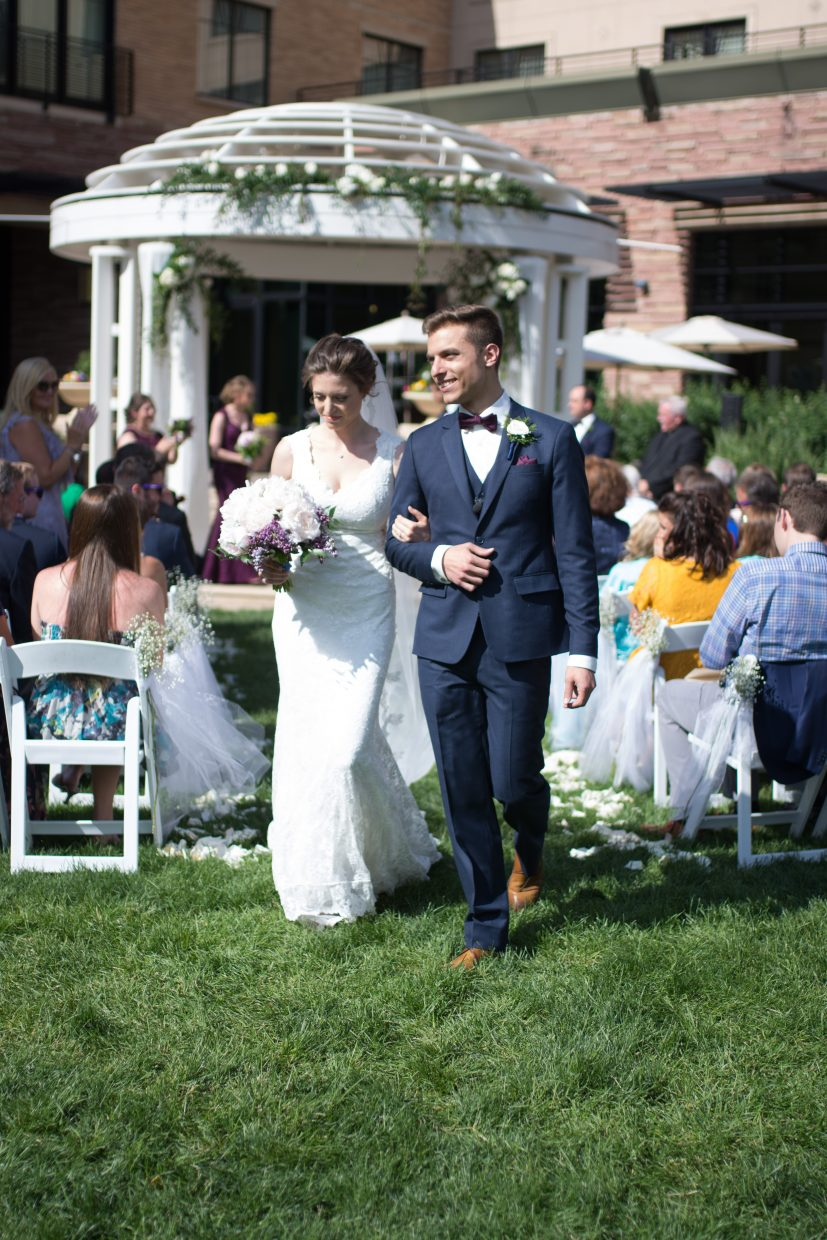 Leah Jones and Austin Longo were married June 3 in Boulder at the St. Julien. Leah skied head wall at age one in 1994 with the aid of a fisher price walker. Months later she learned to walk. She has been skiing Steamboat ever since.