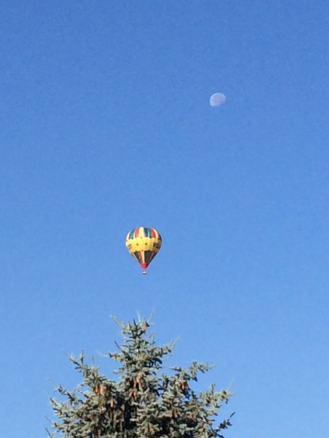 Balloon and the moon.