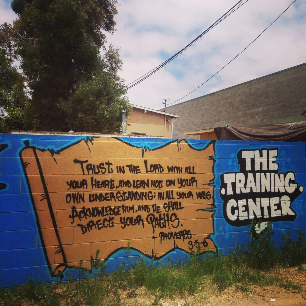 Graffiti art at The Training Center in San Diego.