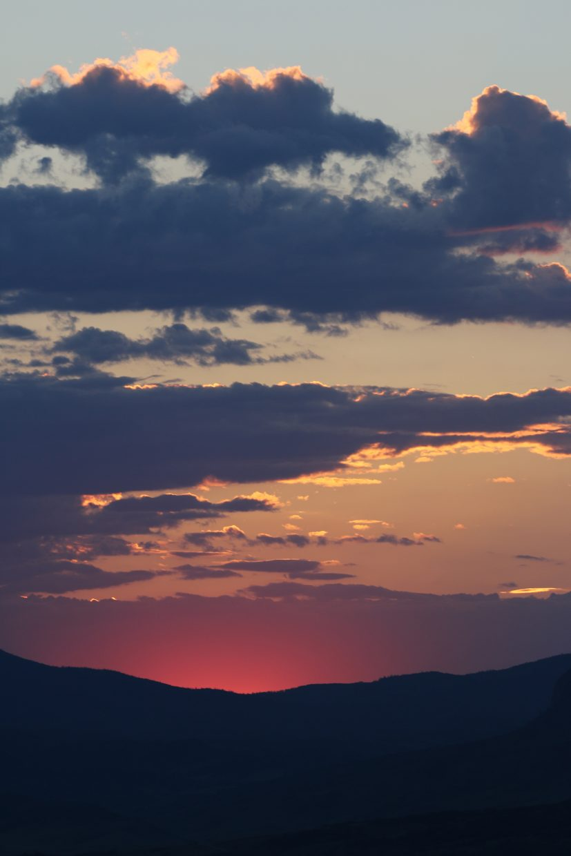 Sunset from Mount Werner.