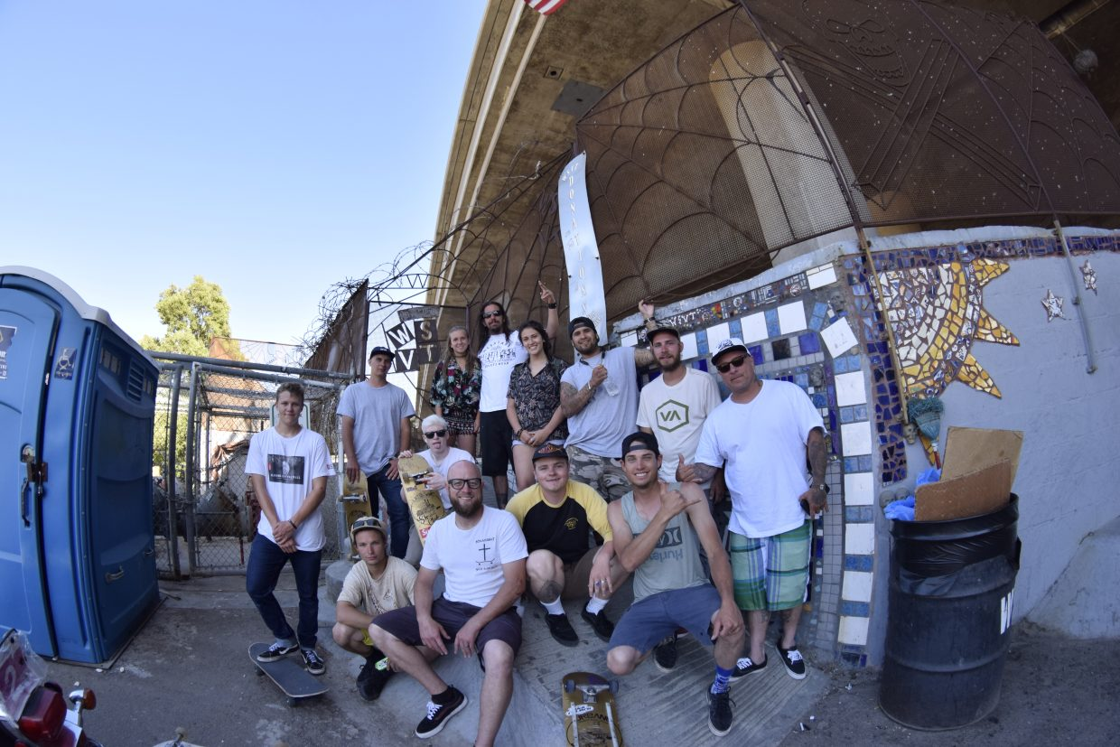 The Sk8 Church crew at Washington Street Skatepark.