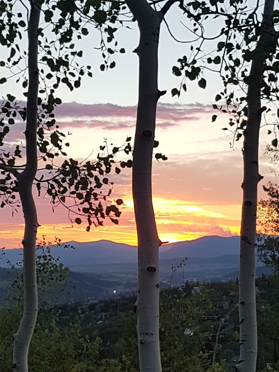 July 4 sunset from Steamboat Ski Are