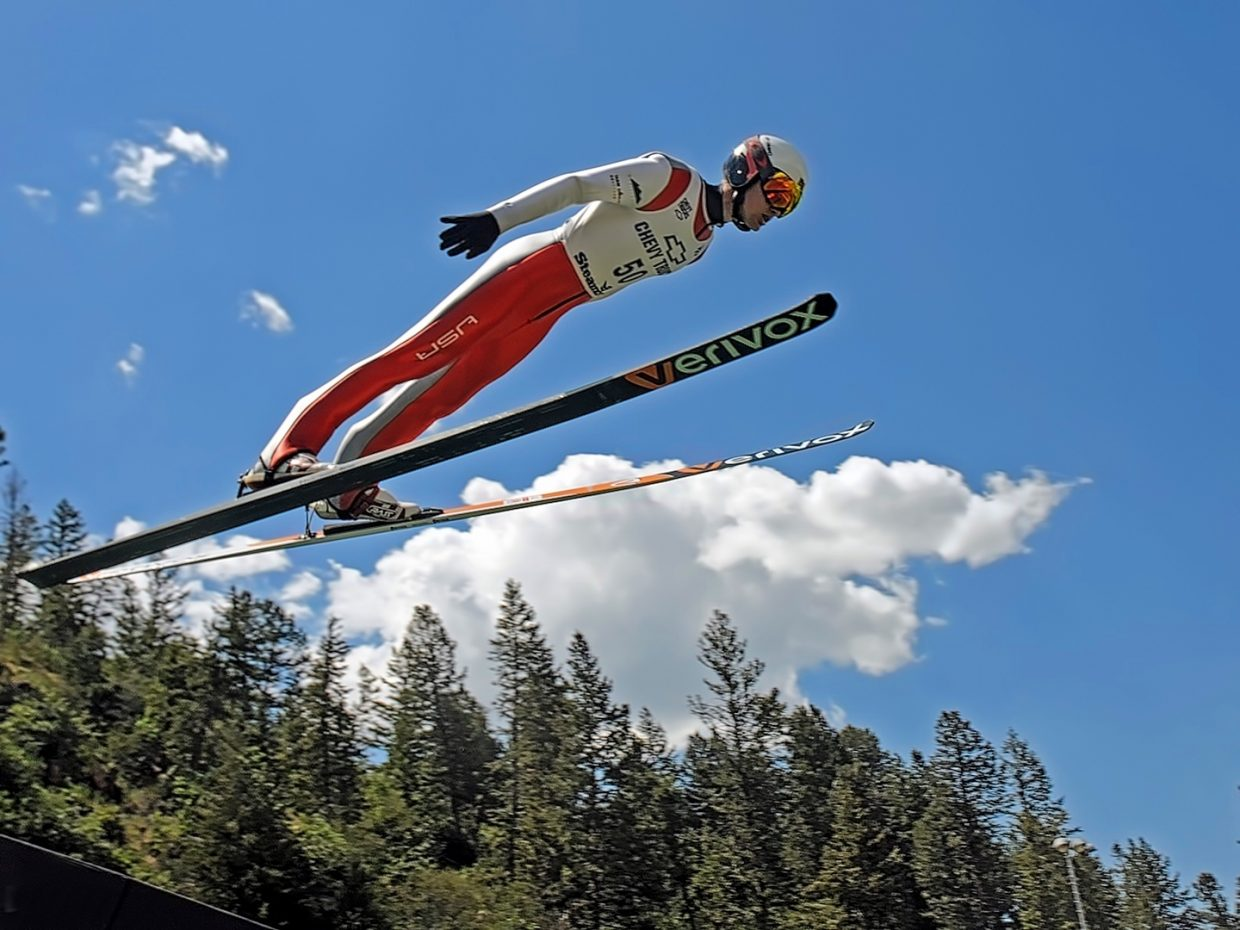Ski jumping on the 4th of July? Must be Steamboat.