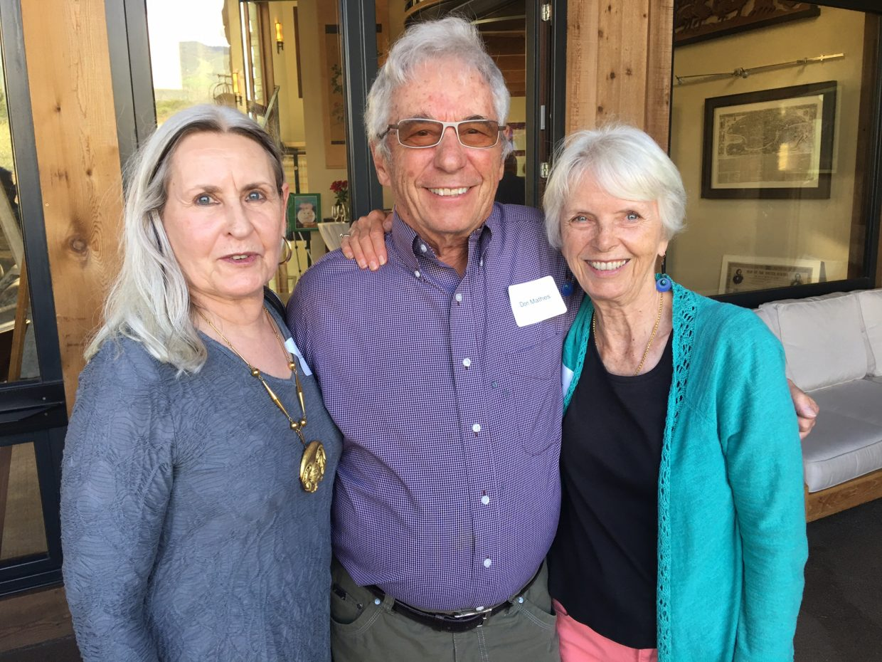 From left, Opera Steamboat patrons Libbie Mathes, Don Mathes and Emily Seaver