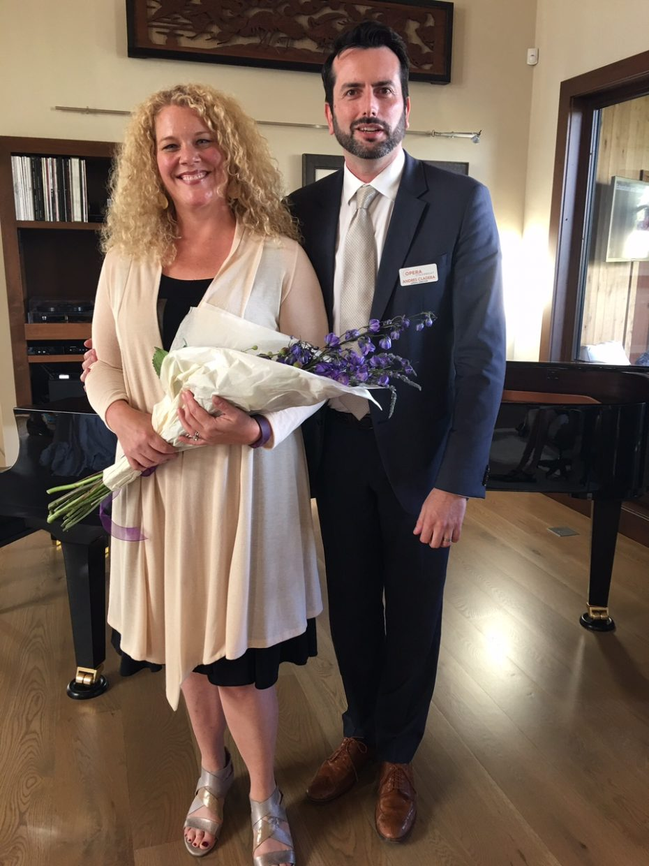 Michelle De Young, Grammy-winning dramatic soprano, left, and guest artist Andres Cladera, artistic director of Opera Steamboat
