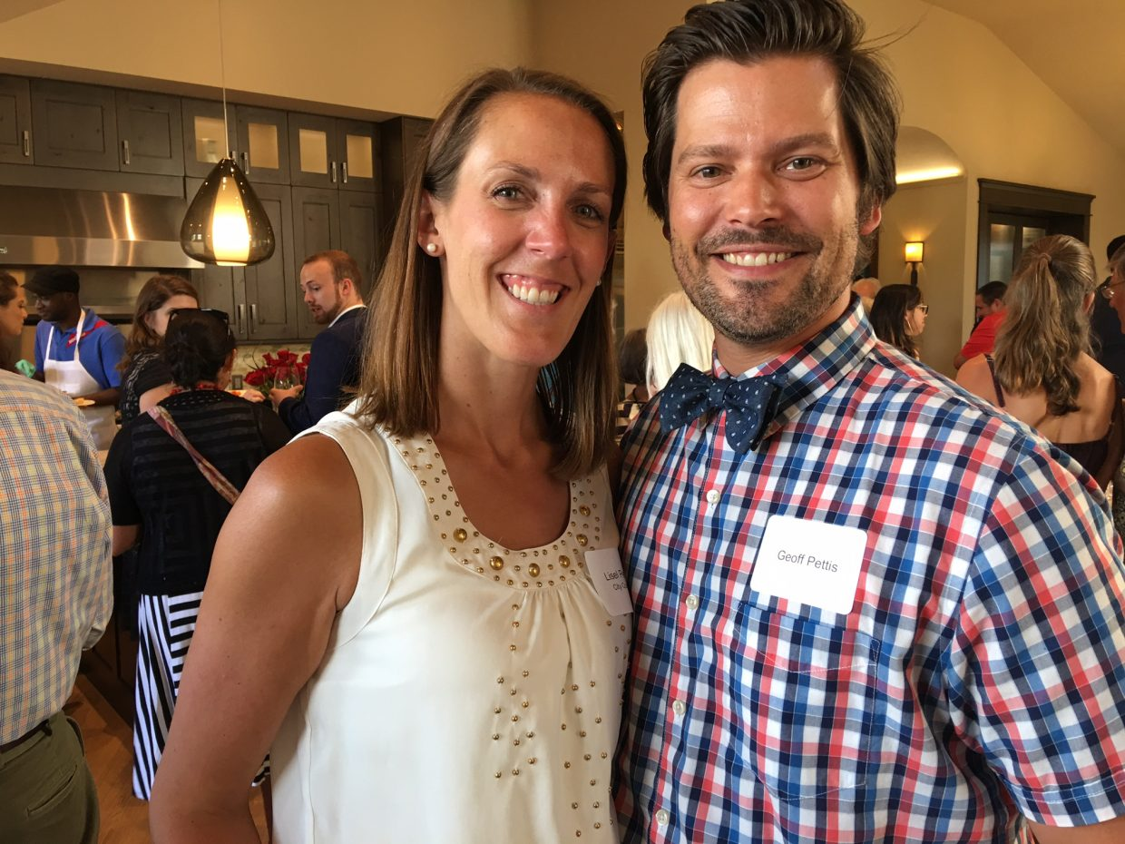 Steamboat Springs City Councilwoman Liesel Petis and Geoff Petis. Liesel Petis read a proclamation declaring July 26 as Opera Steamboat Day