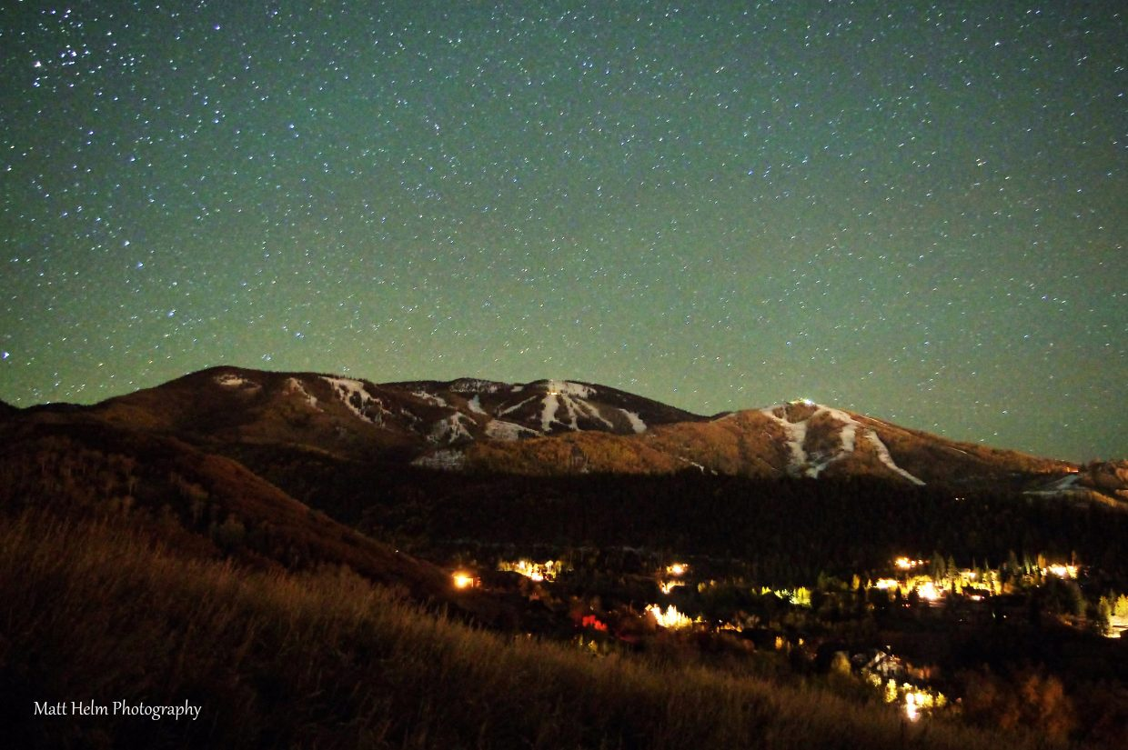 Night shot of Mount Werner with the stars turned out to be pretty cool. Submitted by: Matt Helm
