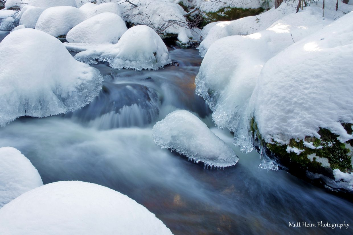 Harrison Creek after hiking through knee-deep snow. Submitted by: Matt Helm