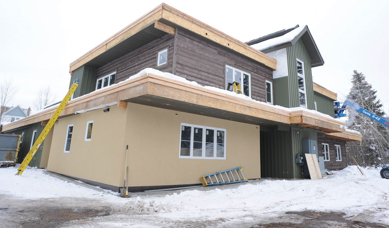 After nearly seven years of planning and effort, Horizons Specialized Services is within two months of completing its new independent living group home at 447 Eighth St., near Soda Creek Elementary School in Old Town Steamboat Springs. Horizons Adult Program Director Tatum Heath said the building is on schedule to be completed by mid-February.