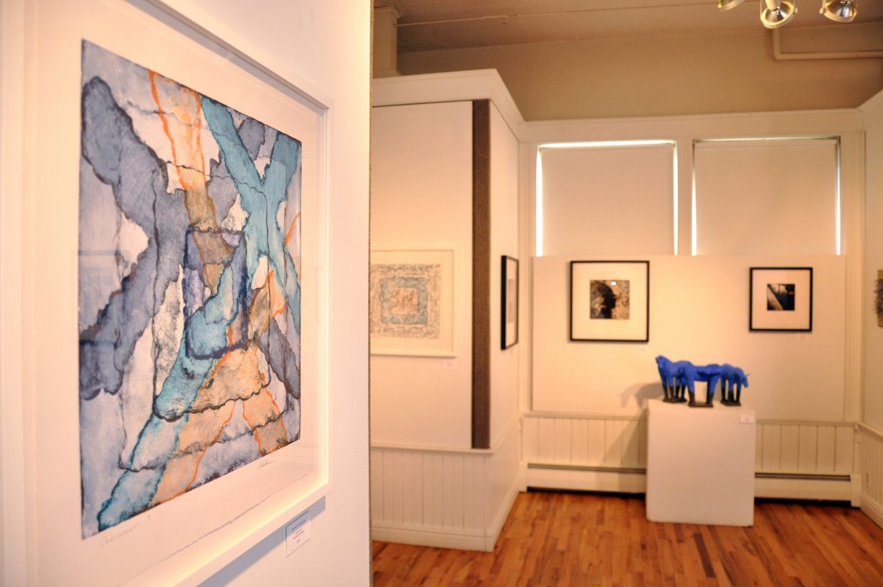 A good mix of prints, photographs, weaving and sculptures from four local artists is on display at the Depot Art Center in Steamboat Springs.