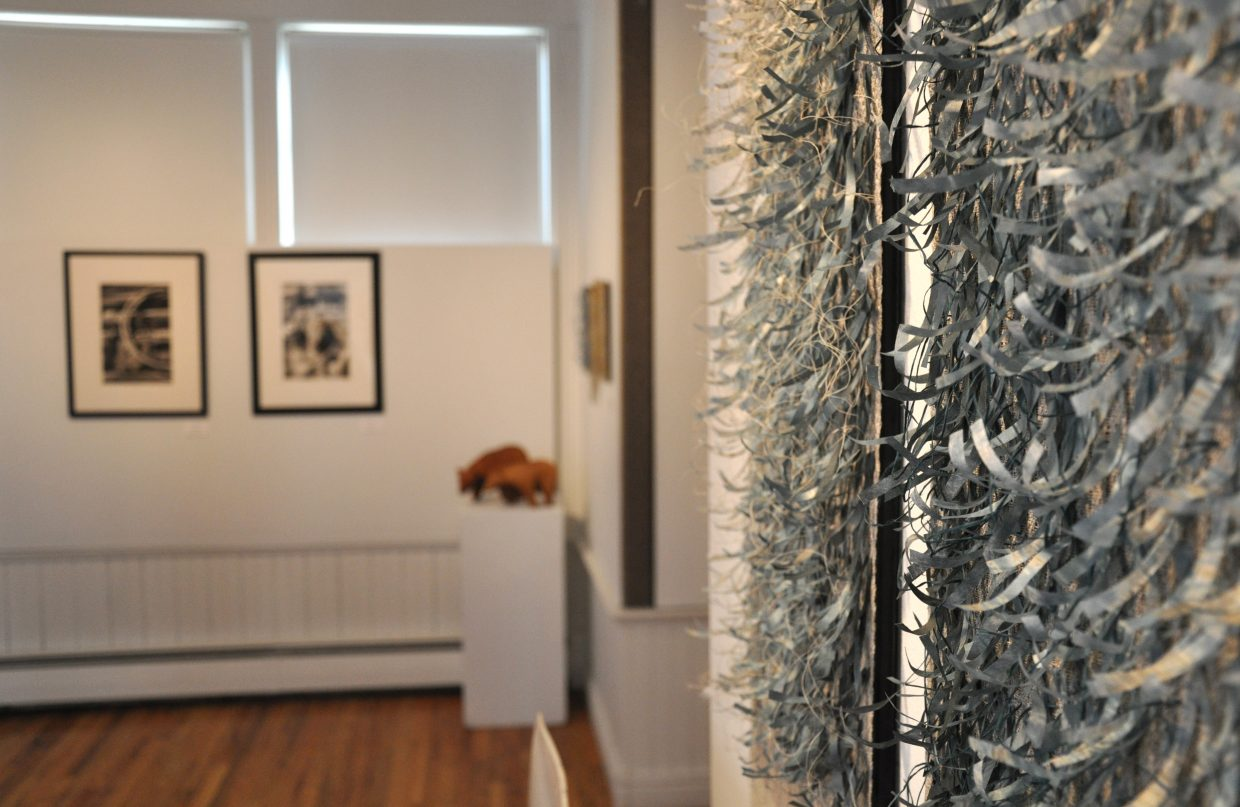 Mixed-media fiber from local artist Wendy Kowynia is on display at the Depot Art Center in Steamboat Springs. It is joined by sketches, sculptures and photos from three other local artists.