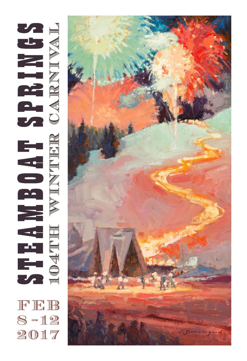 The 2017 Winter Carnival poster features artwork from Steamboat Springs artist Chula Beauregard.