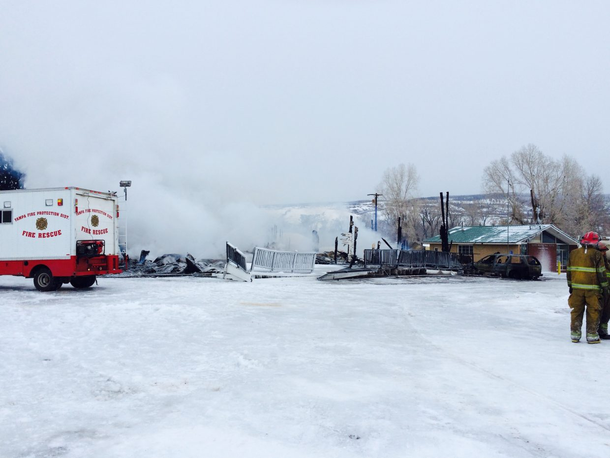 Fire destroys The Royal Hotel in Yampa. Submitted by: Diana Wheeler