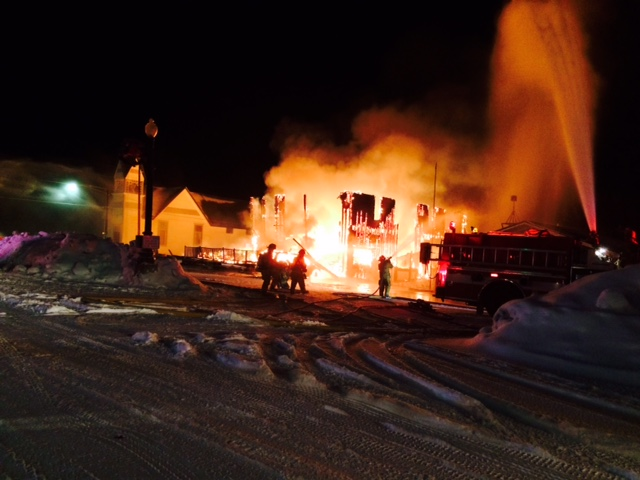 The Royal Hotel in Yampa burns Saturday night into Sunday morning. Submitted by: Diana Wheeler