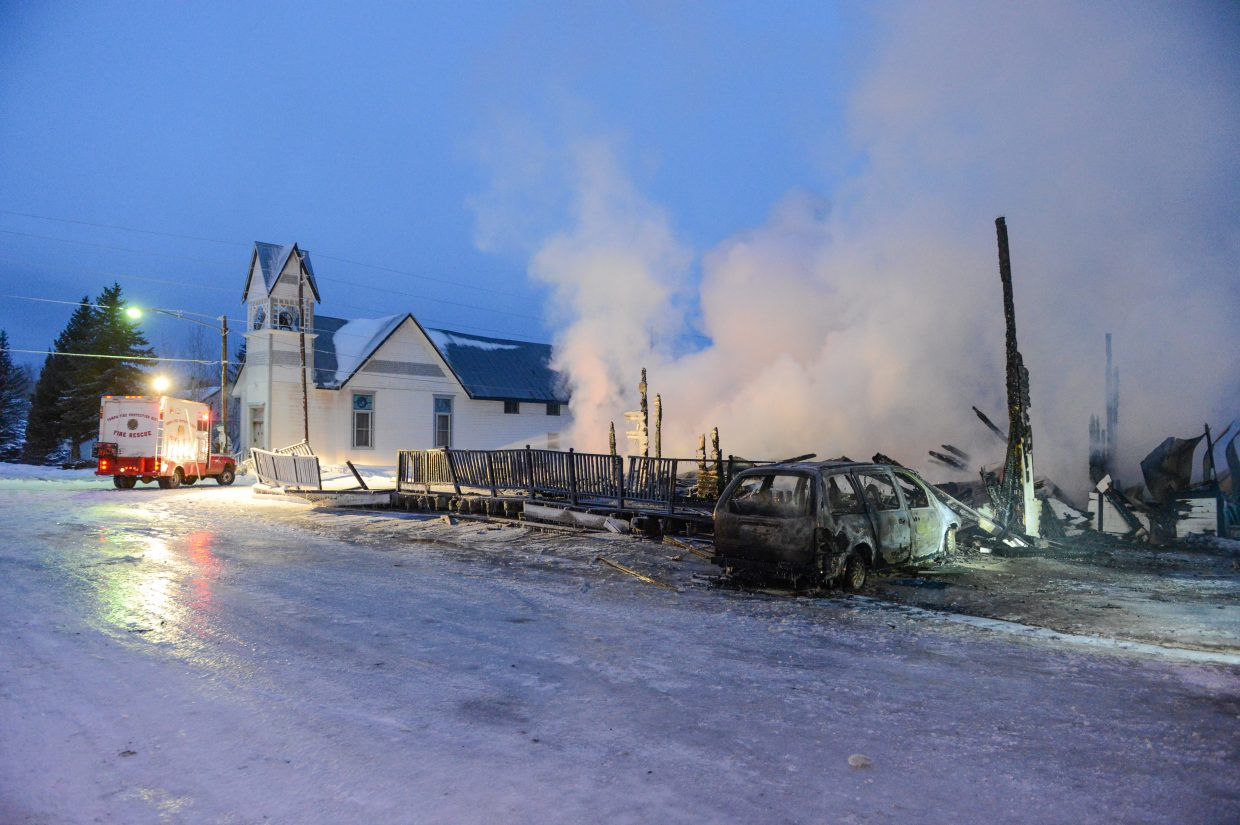 Fire destroys The Royal Hotel in Yampa. Submitted by: Pat Krausgrill Photography