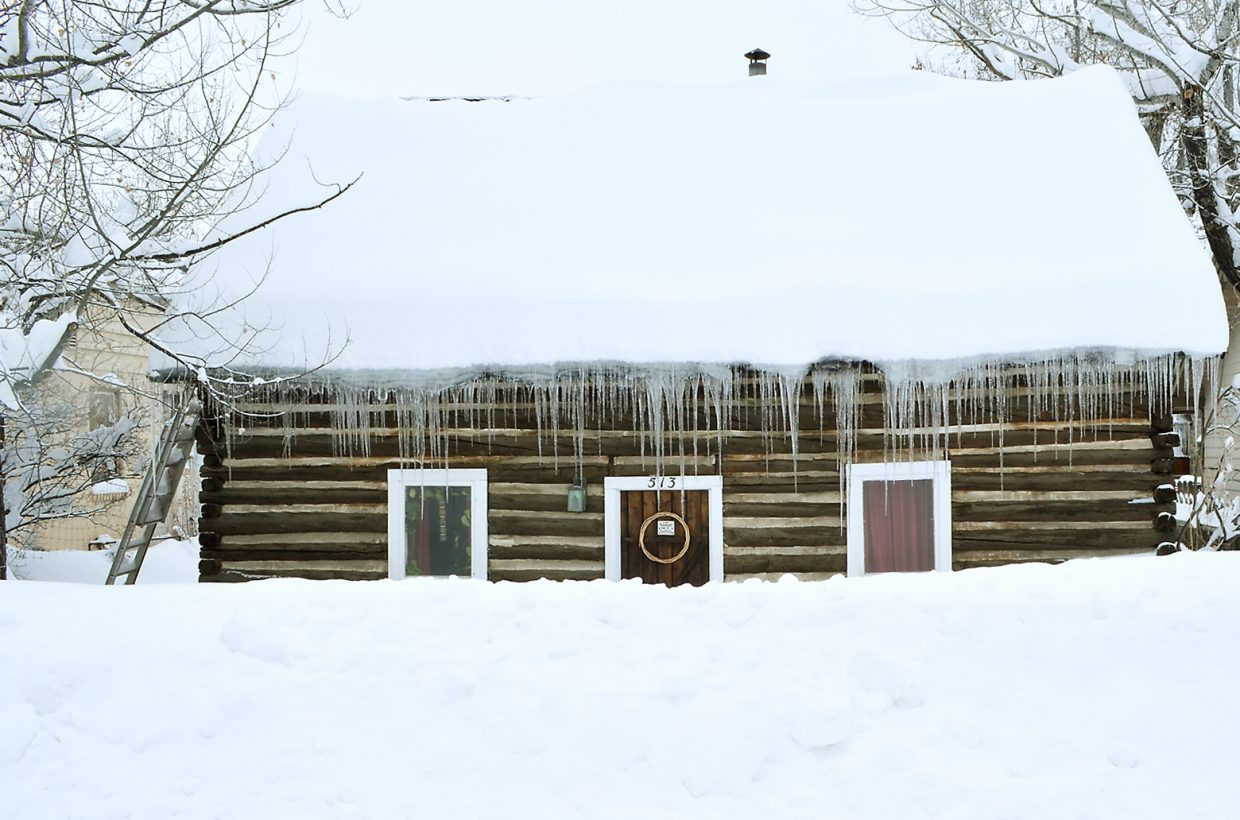 A home on Pine Street in Old Town Steamboat Springs was snowed-in after the storm of Jan. 5.