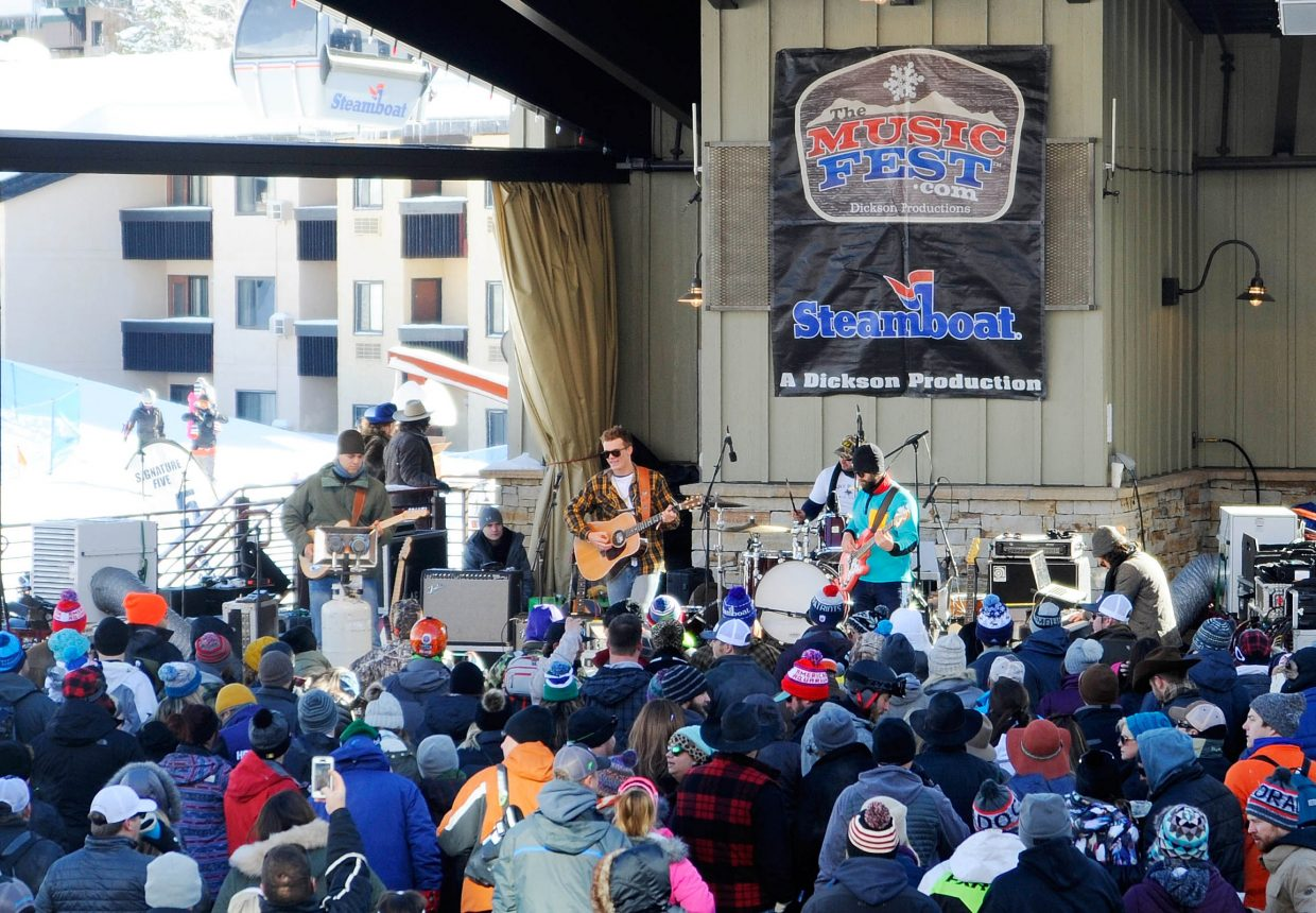 Parker McCollum performs Friday at the Steamboat Stage at Steamboat Ski Area as part of a free Musicfest concert.