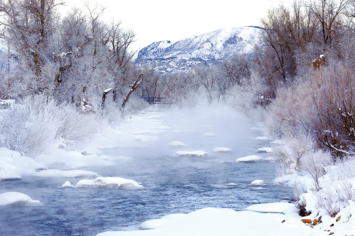 Low temperatures continued to grip Steamboat Springs on Tuesday, when mist rose off the waters of the Yampa River as it rolled through town.