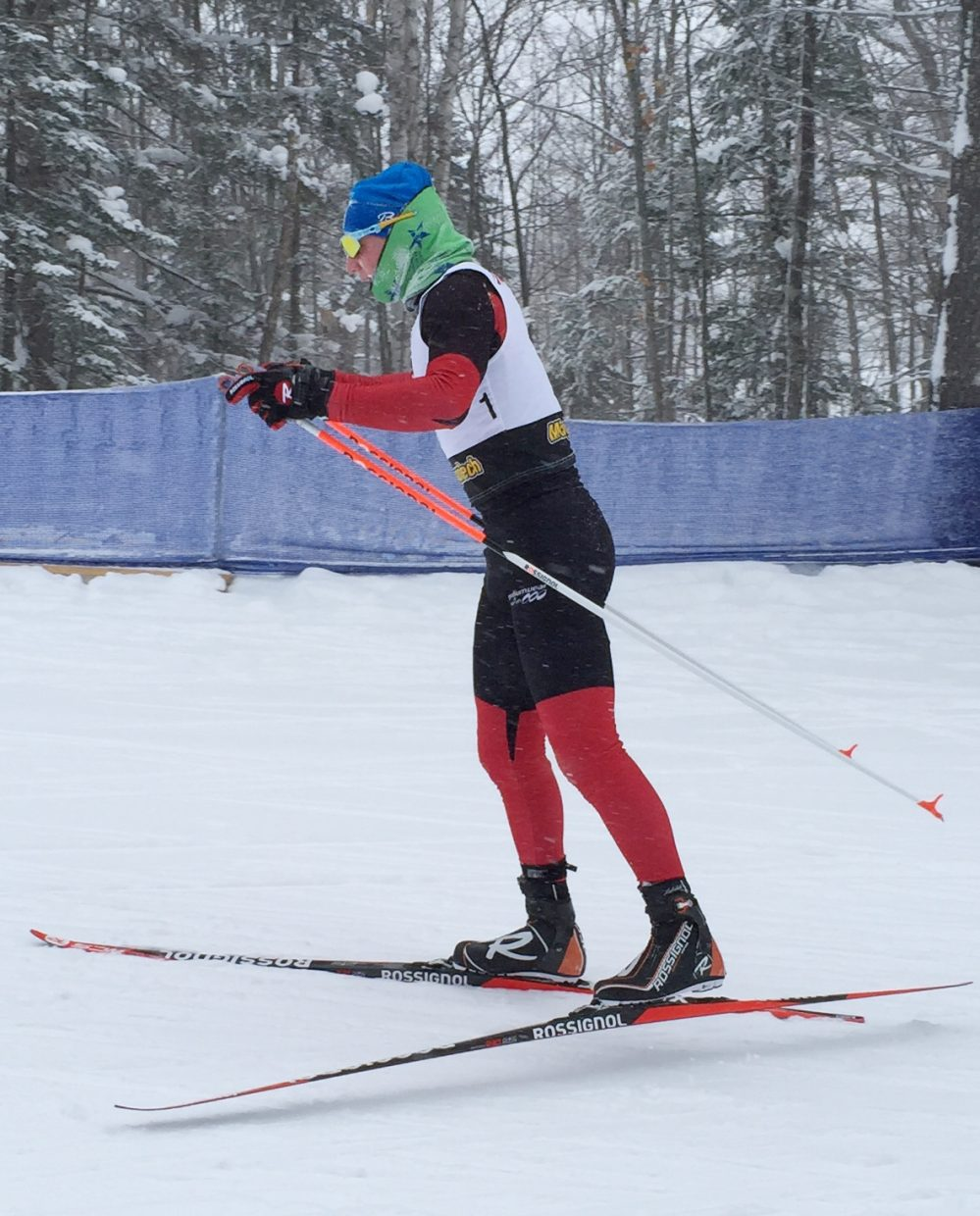 Lars Hannah skis Sunday at the USSA National Championships in Michigan. Hannah's strong results at the event could help him to the World Junior Championships team later this season.