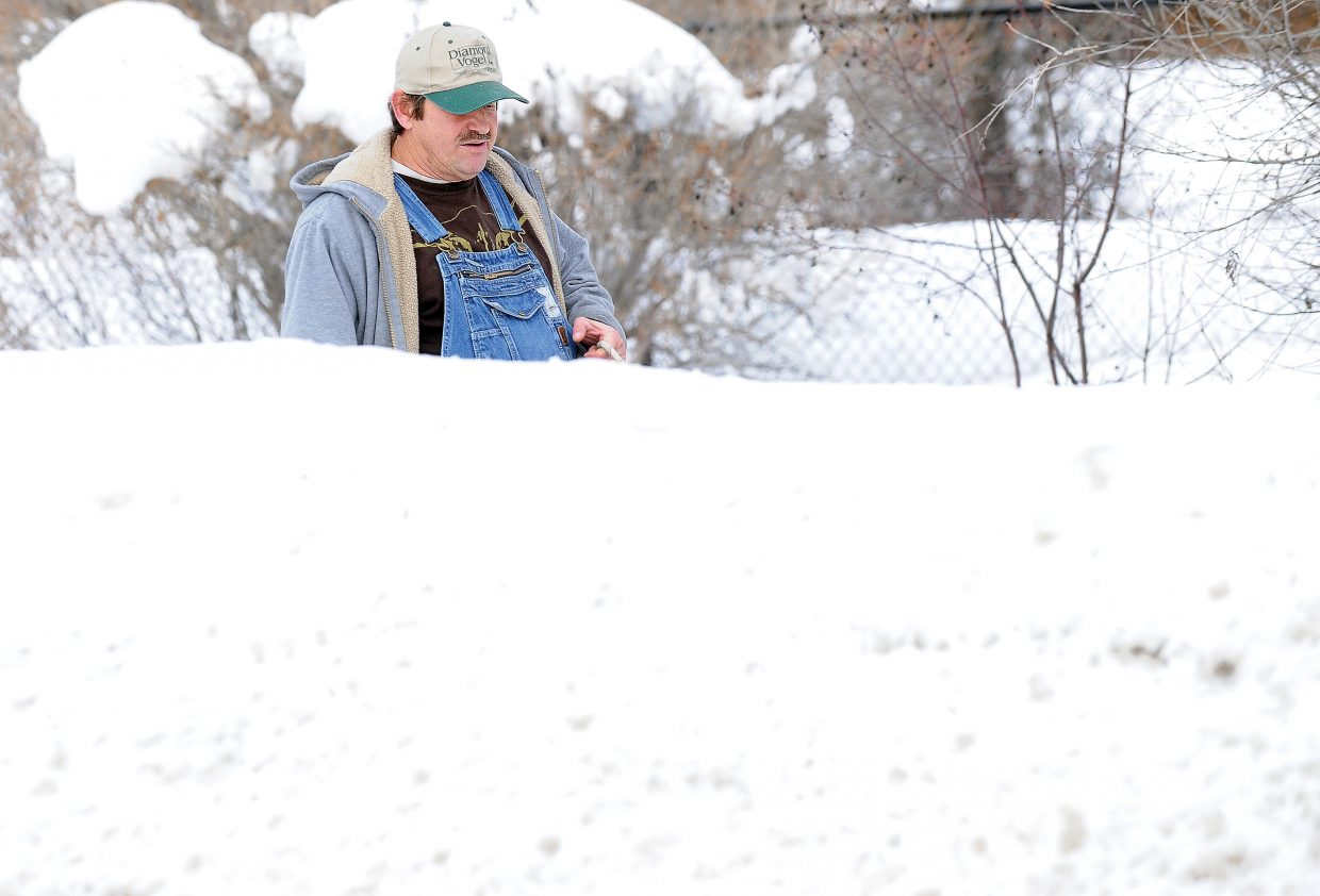 No one has to remind Steamboat Springs resident Ed Benamati how much snow the area has received this winter. He sees it every time he walks his dog along the Yampa River Core Trail. The snow is expected to continue this week as several more winter storm systems are predicted in Northwest Colorado.