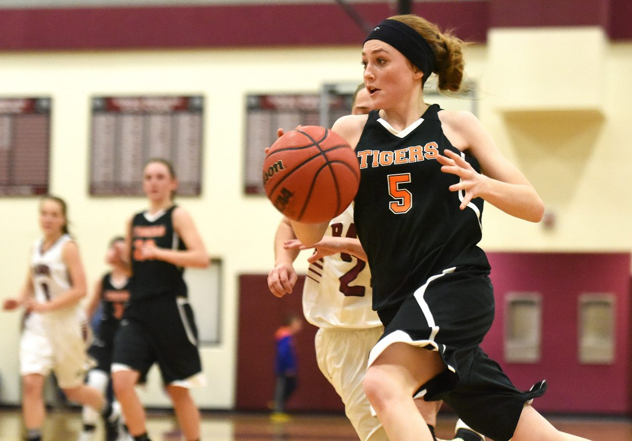 Hayden's Darian Murphy races toward the basket Friday. She scored eight points in the fourth quarter.