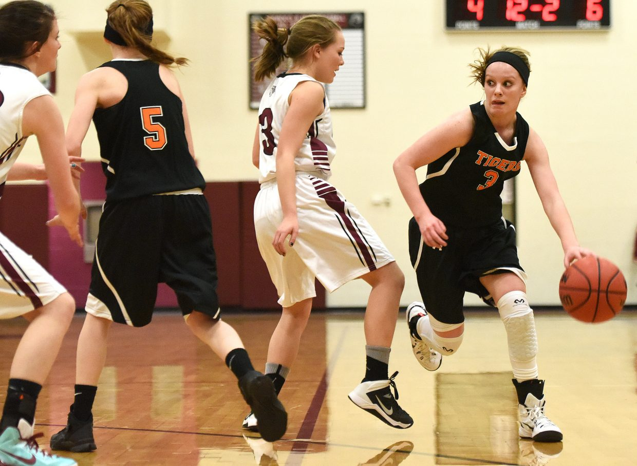 Hayden's Grace Wilkie looks to drive the ball Friday.