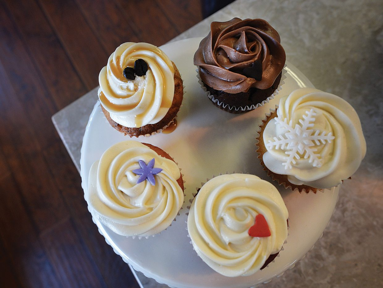 Cupcake Mini Bar owner Cassie Piper selection of tasty treats includes a number of different cupcake choices.
