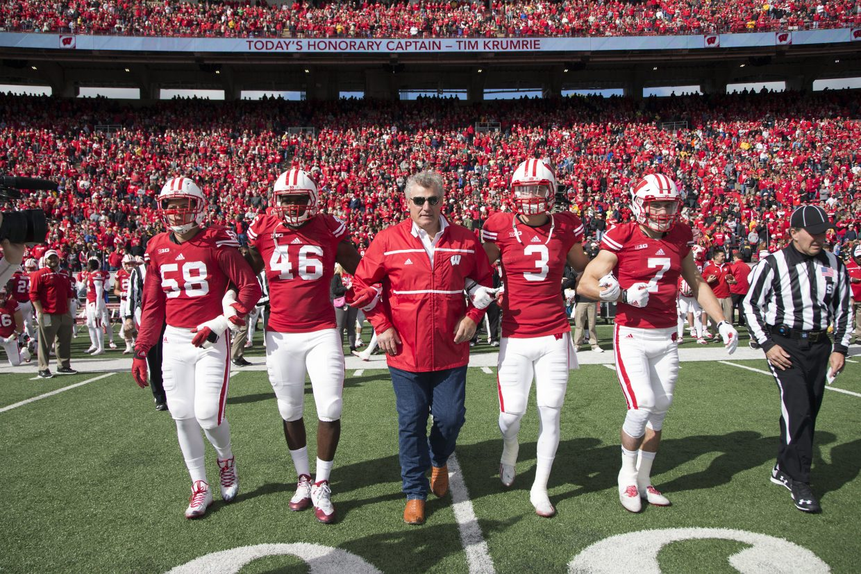 Tim Krumrie, who lives in Steamboat Springs, was an honorary team captain at a University of Wisconsin football game in October. Krumrie was a four-year starter at nose tackle for the Badgers from 1979 and 1982 and was selected last week to the College Football Hall of Fame.
