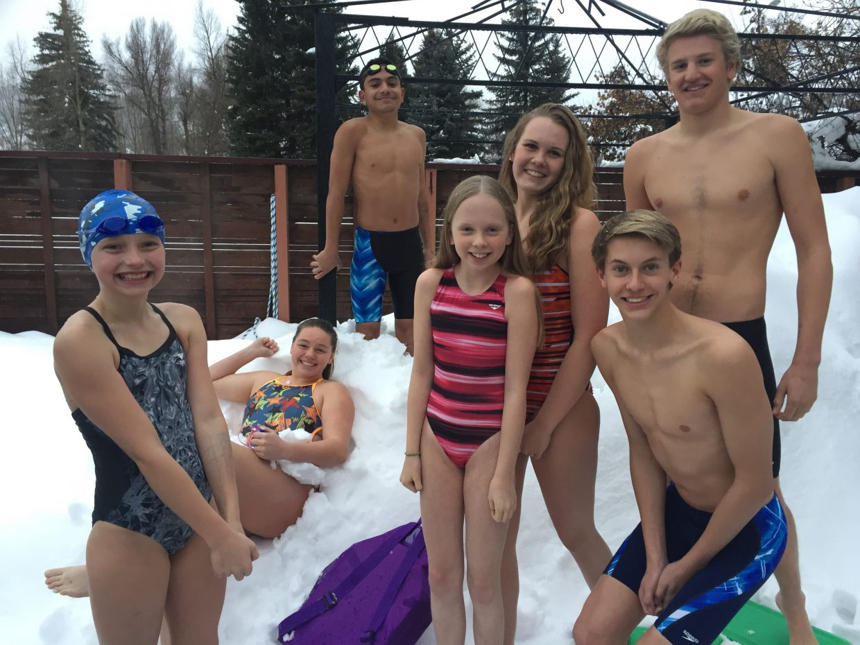 Members of the Steamboat Springs swim team laid down fast times at a Grand Junction meet last weekend.