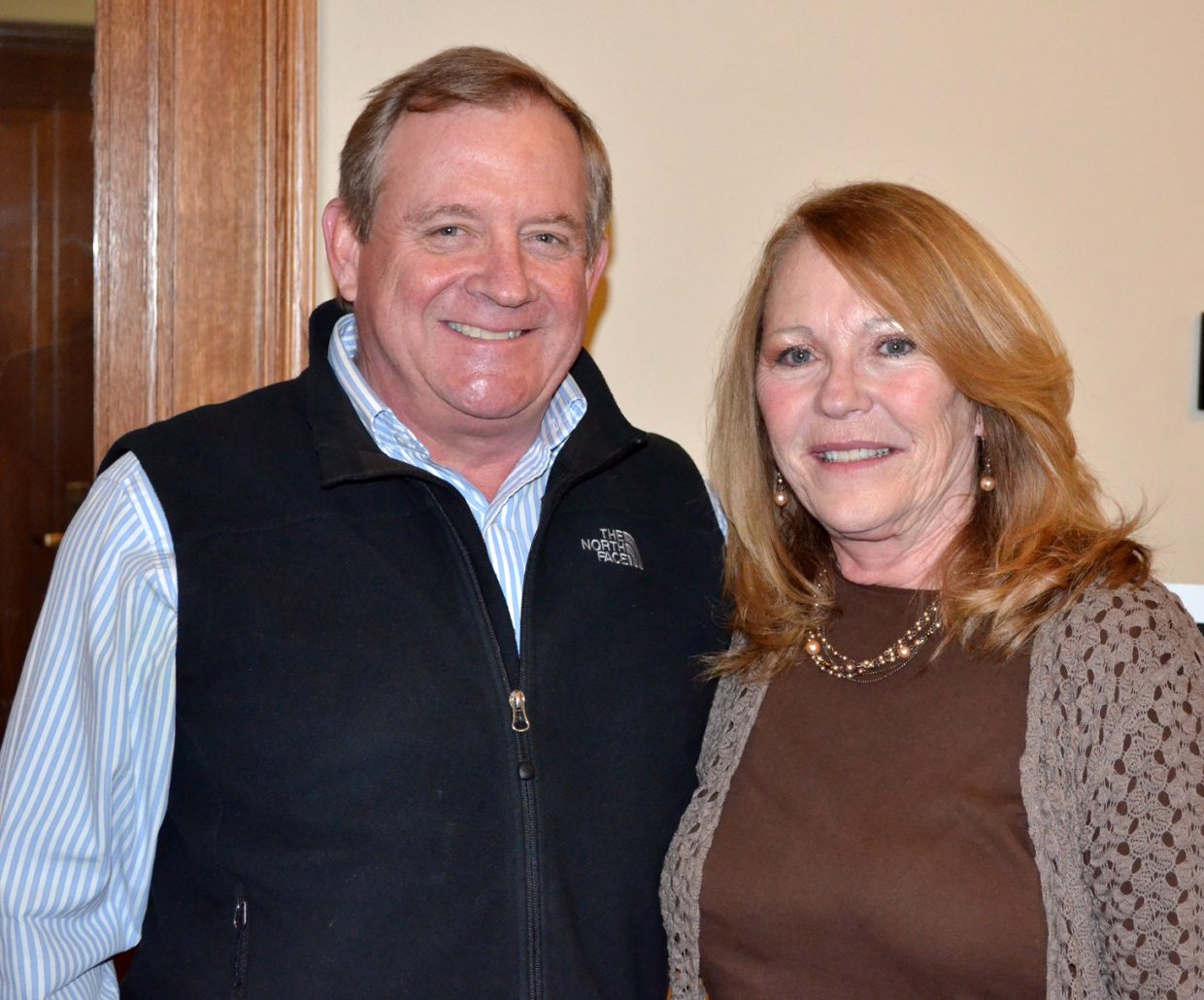 Outgoing Routt County Commissioner Steve Ivancie and retiring Clerk and Recorder Kay Weinland were honored during a reception Monday night at the courthouse. Weinland is leaving Routt County after 20 years in her post to retire to St. George, Utah.