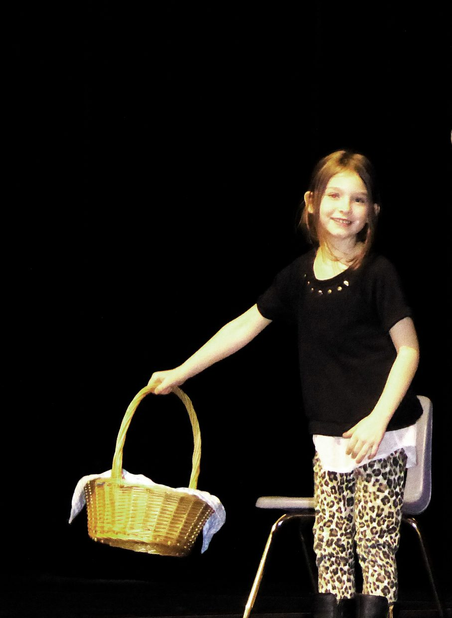 This is Marlie LaRose, a 7-year-old first-grader at Sunset Elementary School, rehearsing for the Missoula Children's Theatre production of Red Riding Hood.
