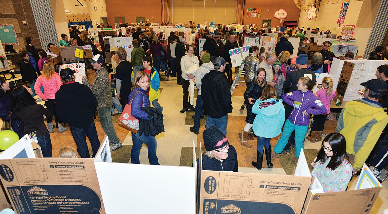 A large crowd came out to Soda Creek Elementary School for the annual science fair.