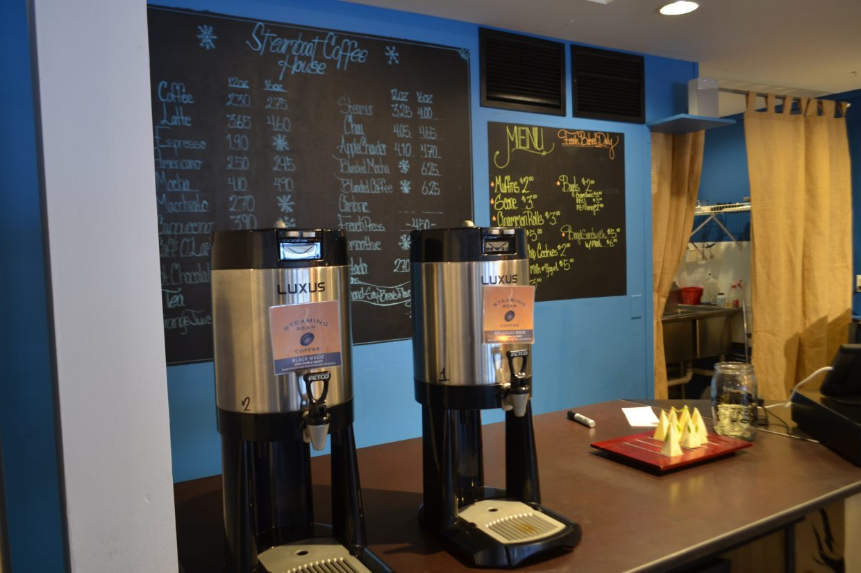Steamboat Coffee House is open 7 a.m. to 6 p.m. every day at 635 Lincoln Ave.