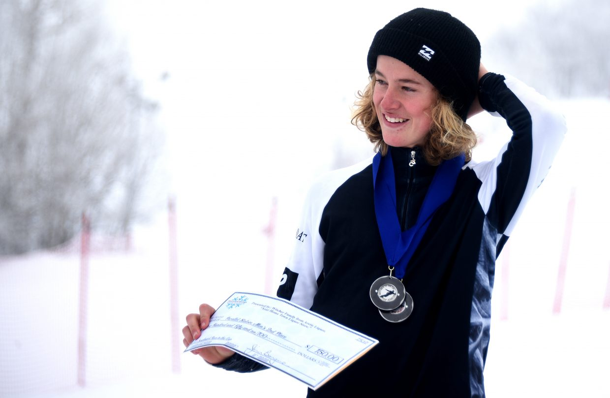 Cody Winters, a 16-year old Steamboat Springs snowboarder, recorded the best result of his career Sunday, placing second in the Race to the Cup NorAm parallel slalom event at Steamboat Ski Area.