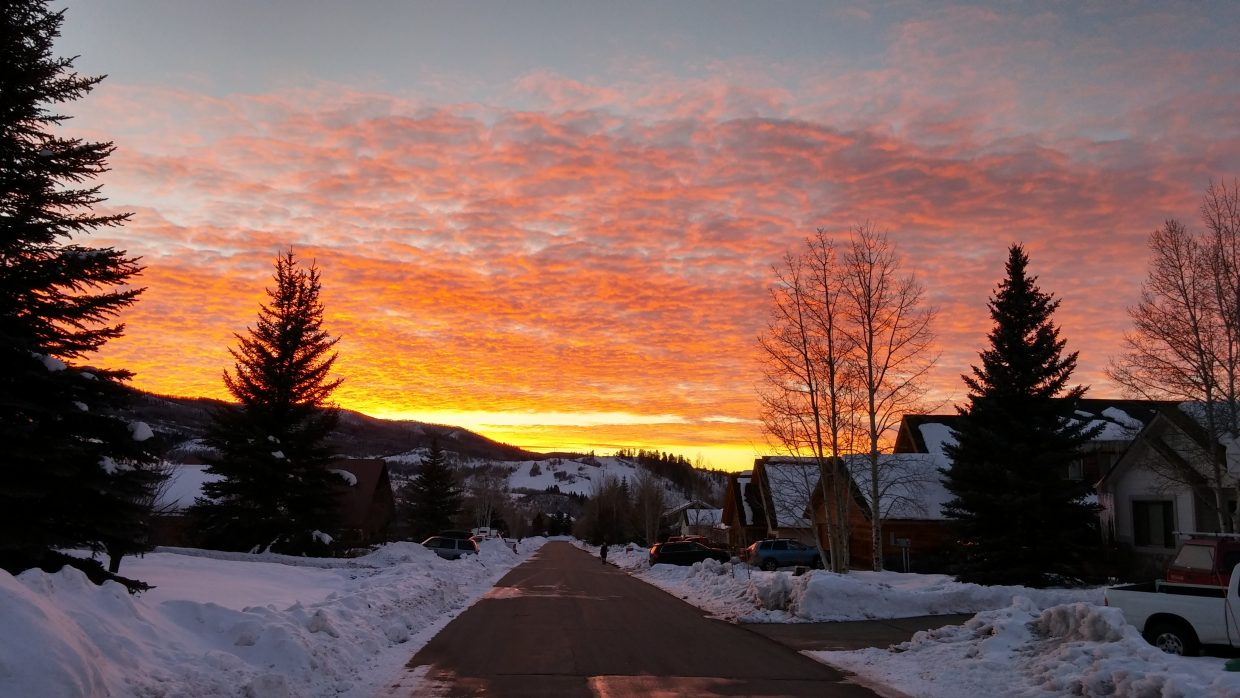 Winter sunset. Photo submitted by: Bruce Carta.