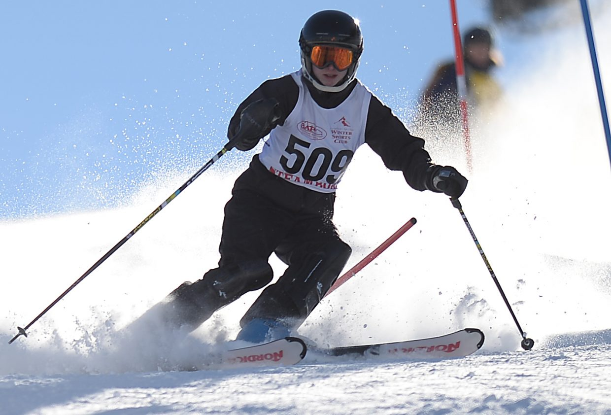 Rick Walters skis Friday in a high school slalom event at Howelsen Hill in Steamboat Springs.