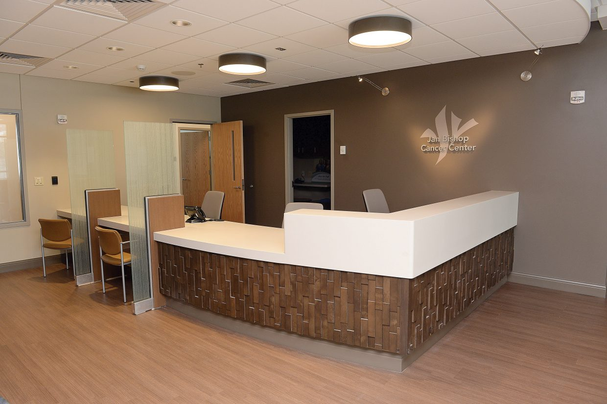 The reception area at the new Jan Bishop Cancer Center, located inside the Yampa Valley Medical Center, is open and welcoming and offers a waiting area complete with views of Steamboat Ski Area.